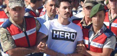 Cumhurbaşkanı'na suikast timi davası! Duruşmaya 'Hero' tişörtüyle geldi