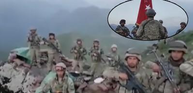 Dağ zirvesinde böyle görüntülendiler! Mehmetçik Kuzey Irak'tan mesaj verdi