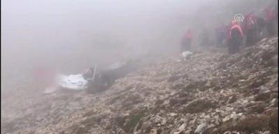 Denizli'de düşen uçağın enkazına ulaşıldı: 2 ölü