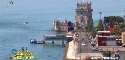 Depremle ana karadan ayrılan Portekiz'in Lizbon şehrindeki Belem Kulesi