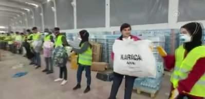 Depremzedeler için gönüllülerin yardım zinciri