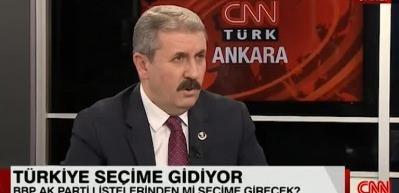 Destici: Erdoğan yüzde 55'in üzerinde oy alır