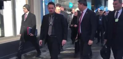 """Dışişleri Bakanı Çavuşoğlu, Davos'ta """"Türk Evi'ni ziyaret etti"""