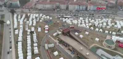 Elazığ depremi sonrası kurulan çadır kent ilk kez görüntülendi!