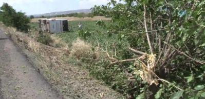 Elazığ'da yolcu otobüsü devrildi: 4 yaralı