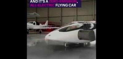 Elektrikli uçan otomobil yaptılar!
