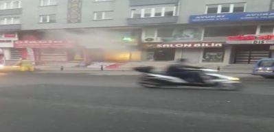 Emre Özkan'ın hayatını kaybettiği yangının görüntüleri