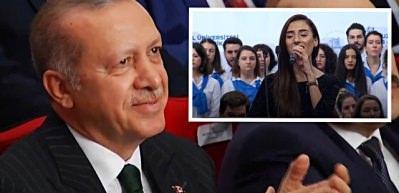 En sevdiği şarkıya Erdoğan da eşlik etti