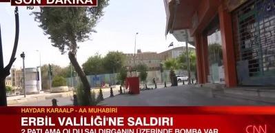 Erbil'de saldırı! Valiliği bastılar