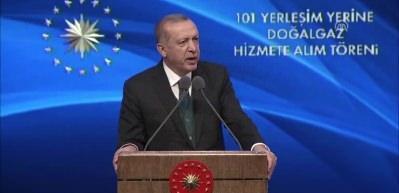 Erdoğan, 101 İlçeye Doğalgaz Dağıtım Töreni'nde konuştu