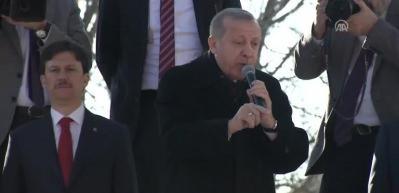 Erdoğan: Burayı bölmeyi, parçalamayı isteyenlere mezar ederiz her yeri mezar