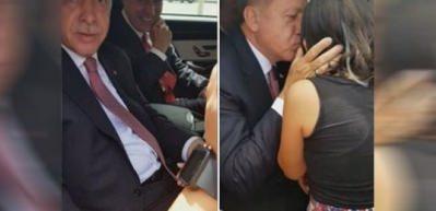 Erdoğan, çocukları görünce konvoyunu durdurdu