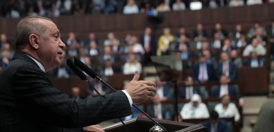 Erdoğan grup toplantısında izletti! İşte o görüntüler