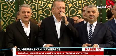 Erdoğan, Hulusi Akar Camii'ni açtı!