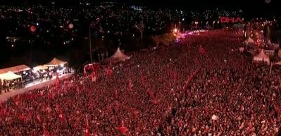Erdoğan kürsüye 'Bil Oğlum' türküsü eşliğinde çıktı