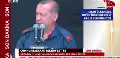 Erdoğan rakamı açıkladı: 19 bin tır, 3 bin uçak