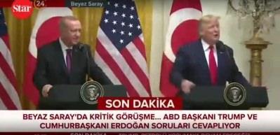Erdoğan Trump'ı böyle düzeltti: İşte o anlar!
