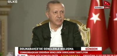 Erdoğan'ın katıldığı canlı yayında sürpriz