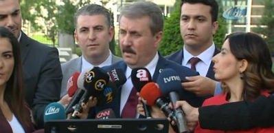 Erdoğan'la görüşen Destici'den açıklama!