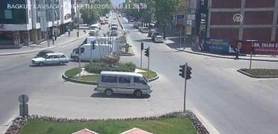 Erzincan'daki trafik kazaları MOBESE'de