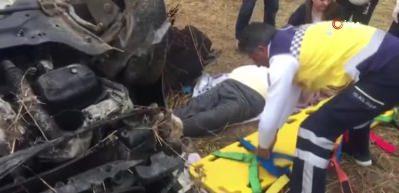 Erzurum'da trafik kazası: 1 ölü, 5 yaralı