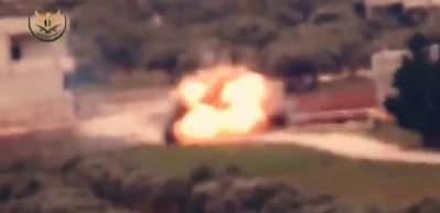 Esed rejimine ait tank böyle vuruldu!