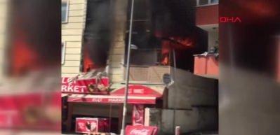 Esenyurt'ta 4 katlı binada yangın!