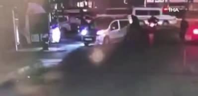 Esenyurt'ta TEM'de trafik kavgası kamerada