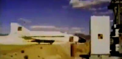 F-4D savaş uçağının çarpışma testi