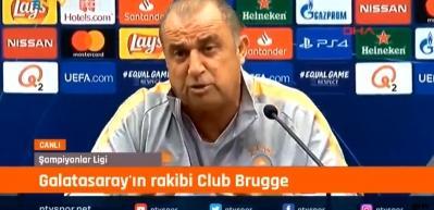 Fatih Terim basın toplantısında İtalyanca konuştu!