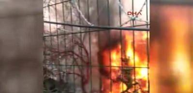 Fatih'te 3 katlı ahşap binada yangın