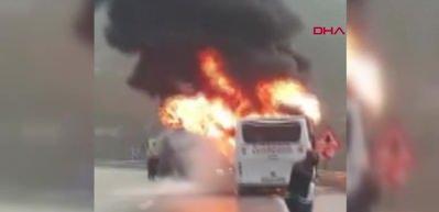 Felaketin kıyısından dönüldü! Takım otobüsü yandı