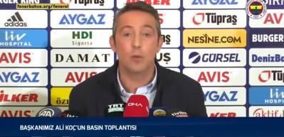 Fenerbahçe, Ali Koç'un sözleriyle göndermede bulundu!