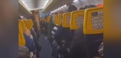 Fırtınada türbülansa giren uçakta panik anları kamerada!