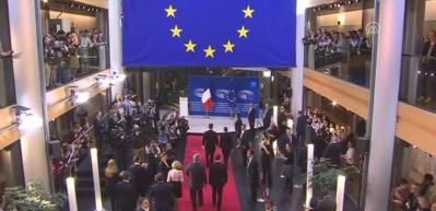 Fransa Cumhurbaşkanı Macron Avrupa Parlamentosu'nda