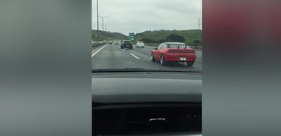 FSM Köprüsü girişinde kazaya sebep olana araçlar kamerada!
