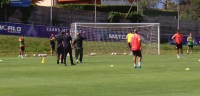 Galatasaray'da Fatih Terim futbolcularla çalıştı