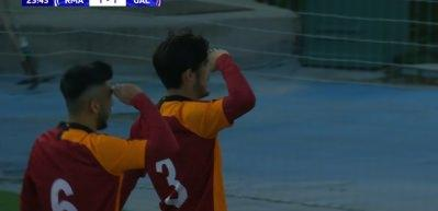 Galatasaray'ın genç futbolcusundan Madrid'de asker selamı