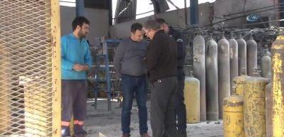 Gaz dolumu yapılan fabrikada korkutan patlama
