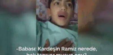 Gazzeli çocuk uyandığında şehit olduğunu sanınca...