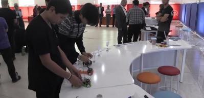 Genç mucitlerin robotları yarıştırıldı