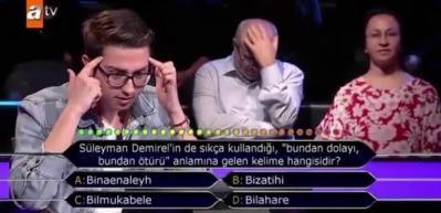 Genç yarışmacı izleyenleri kahkahaya boğdu