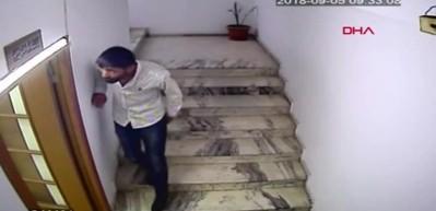 Girdiği ofiste telefonu çaldı, kameralara yakalandı