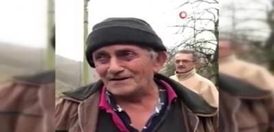 Giresun'daki selde hayatını kaybeden yaşlı adamın son görüntüsü duygulandırdı