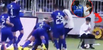 Gomis'in gol sevinci küçük çocuğu korkuttu!