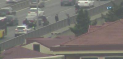 Gören hemen polisi aradı! Köprüde trafik kilit…