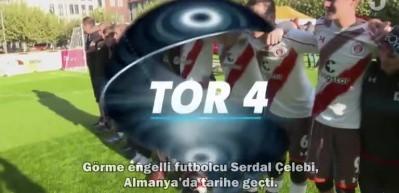 Görme engelli futbolcu Serdal Çelebi, Almanya'da tarihe geçti