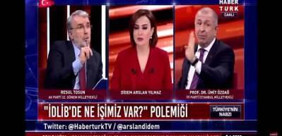 Habertürk canlı yayınında AK Partili Resul Tosun ile Ümit Özdağ kavgası