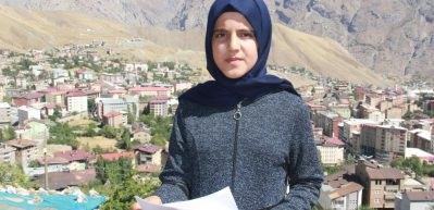 Hakkarili Esranur'dan, Başkan Erdoğan'a şiirli destek