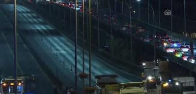 Haliç Köprüsü metrobüs yolunda çalışma başladı